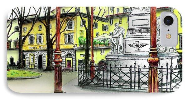 Silla Hotel Piazza Demidoff Florence IPhone Case by Albert Puskaric