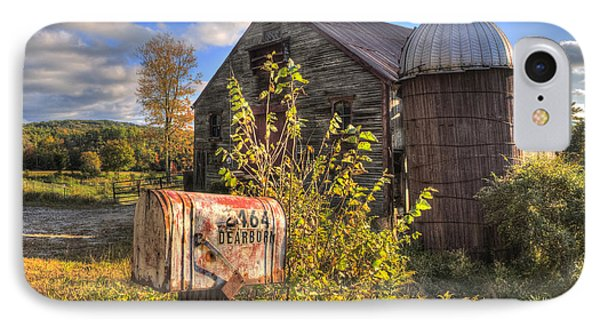 Silo And Barn In Autumn IPhone Case by Joann Vitali