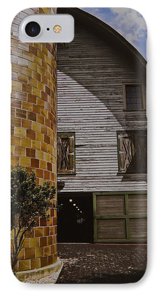 Silo And Horse Stable IPhone Case by Debra Crank