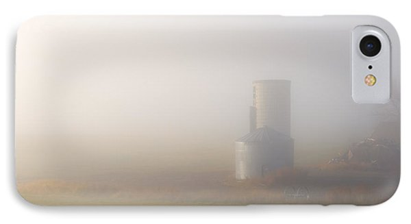 Silo In The Fog IPhone Case by Mike  Dawson