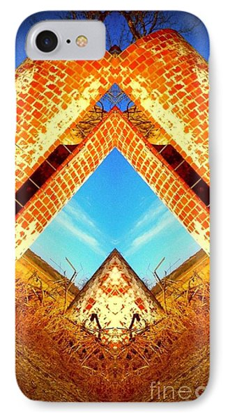 Silo Pyramid IPhone Case by Karen Newell