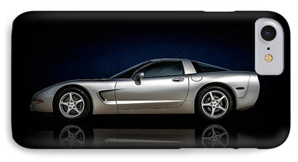 Silver C5 IPhone Case