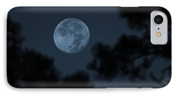 IPhone Case featuring the photograph Silver Cast Of Harvest Moon by Jeremy McKay