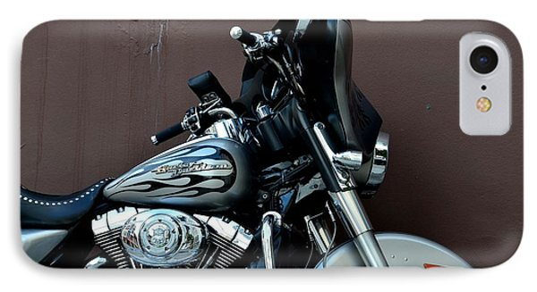 Silver Harley Motorcycle Phone Case by Imran Ahmed