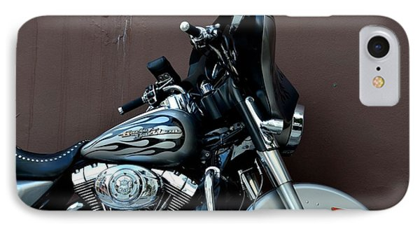 IPhone Case featuring the photograph Silver Harley Motorcycle by Imran Ahmed
