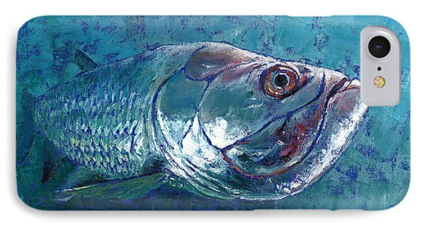 Silver King Tarpon IPhone Case by Pam Talley
