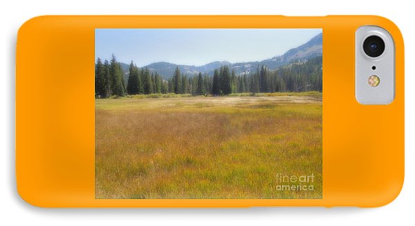 Silver Lake Area Big Cottonwood Canyon Utah IPhone Case by Richard W Linford