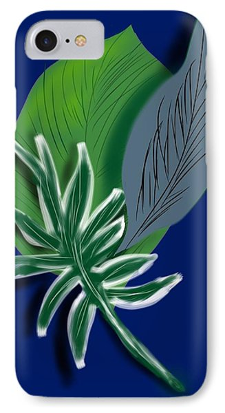 IPhone Case featuring the digital art Silver Leaf And Fern I by Christine Fournier
