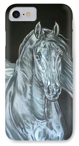 IPhone Case featuring the painting Silver by Leena Pekkalainen