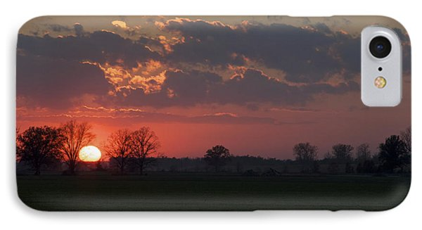 IPhone Case featuring the photograph Silver Lining - Red Sunset Art Print by Jane Eleanor Nicholas
