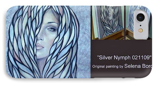 IPhone Case featuring the painting Silver Nymph 021109 Comp by Selena Boron