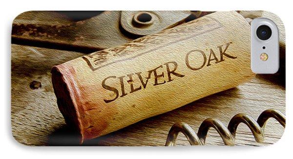 Silver Oak Cork Painting IPhone Case by Jon Neidert