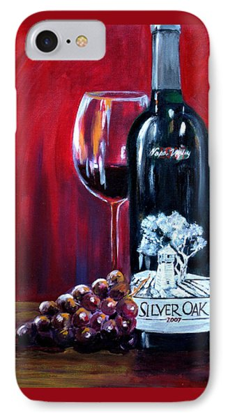 Silver Oak Of Napa Valley And Grape IPhone Case by Sheri  Chakamian