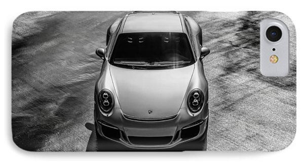 Silver Porsche 911 Gt3 IPhone Case by Douglas Pittman