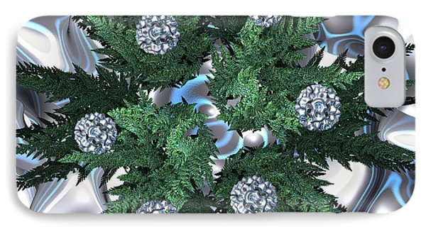 Silver Snow Wreath By Jammer IPhone Case by First Star Art