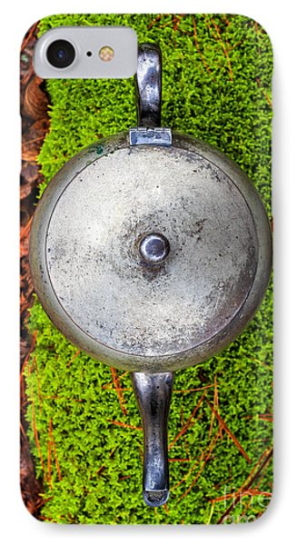 Silver Teapot In The Forest IPhone Case by Edward Fielding