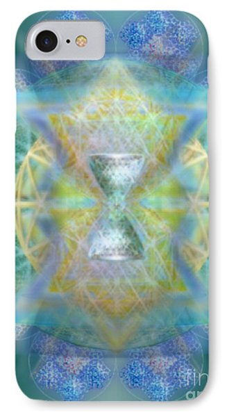 Silver Torquoise Chalicell Ring Flower Of Life Matrix Phone Case by Christopher Pringer