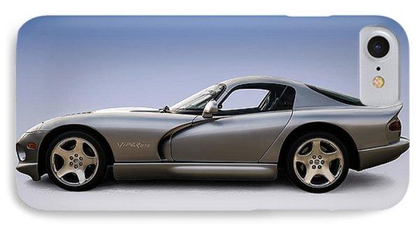Silver Viper IPhone 7 Case by Douglas Pittman