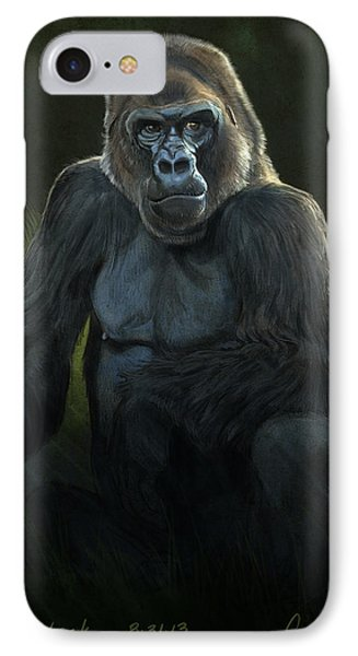 Ape iPhone 7 Case - Silverback by Aaron Blaise