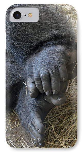 IPhone Case featuring the photograph Silverback Toes by Robert Meanor