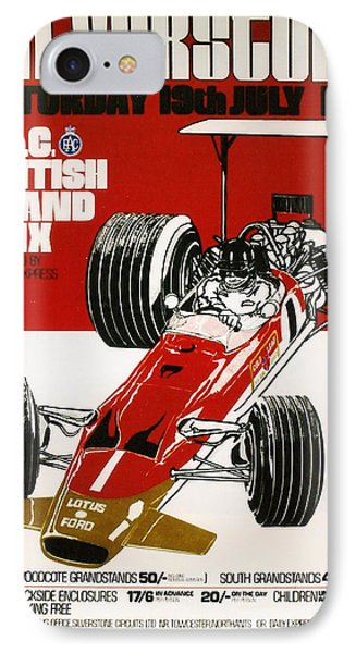 Silverstone Grand Prix 1969 IPhone Case by Georgia Fowler