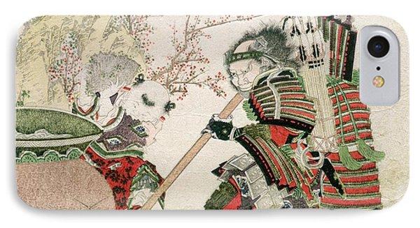 Sima Wengong And Shinozuka, Lord Of Iga IPhone Case by Katsushika Hokusai