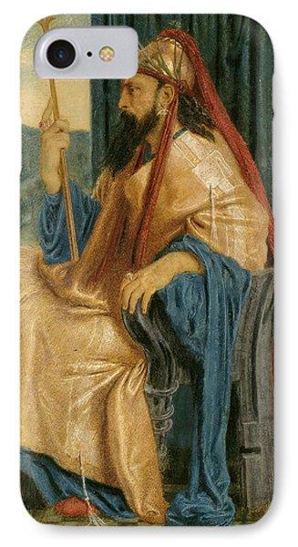 Simeon Solomon, King Solomon, British, 1840 - 1905 IPhone Case by Quint Lox