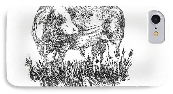 Simmental Bull IPhone Case
