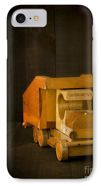 Simpler Times - Old Wooden Toy Truck IPhone Case by Edward Fielding