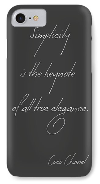 Simplicity And Elegance IPhone Case