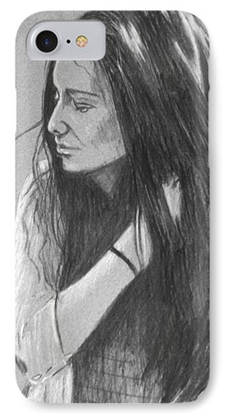 IPhone Case featuring the drawing Simplicity Grey by Justin Moore