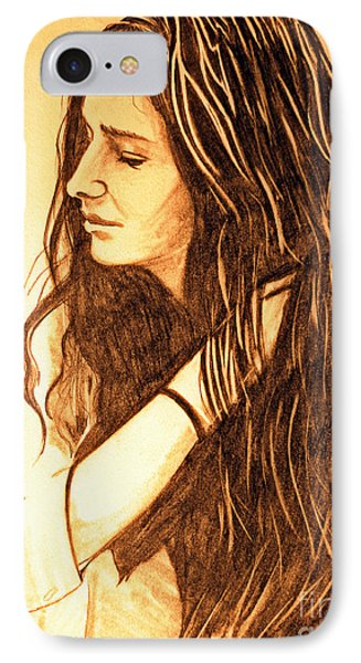 IPhone Case featuring the drawing Simplicty by Justin Moore