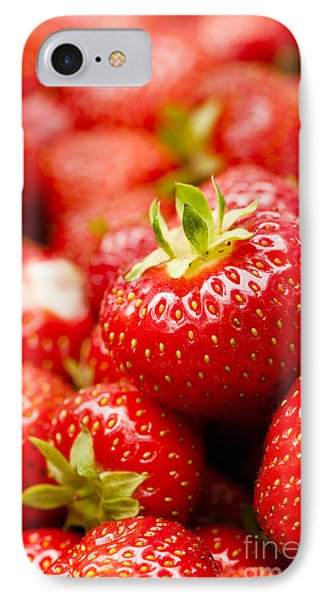 Simply Strawberries Phone Case by Anne Gilbert