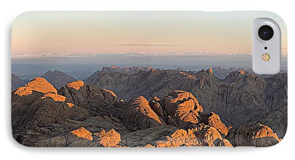 IPhone Case featuring the pyrography Sinai Mountains Just After Sunrise by Julis Simo