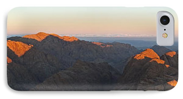 IPhone Case featuring the pyrography Sinai View From St. Catherine Montain On Sunrise by Julis Simo
