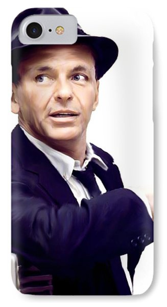 Sinatra.  Frank Sinatra IPhone 7 Case by Iconic Images Art Gallery David Pucciarelli