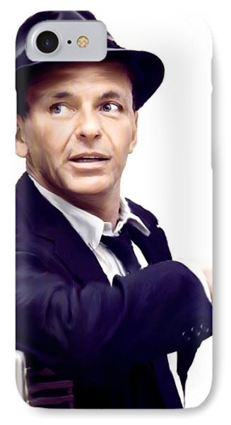 Sinatra.  Frank Sinatra IPhone Case by Iconic Images Art Gallery David Pucciarelli