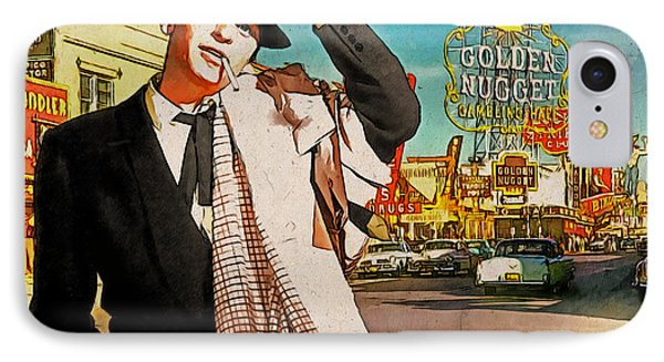 Sinatra In Vegas 1955 IPhone Case by Kai Saarto