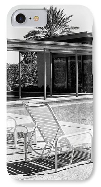 Sinatra Pool Bw Palm Springs IPhone 7 Case by William Dey
