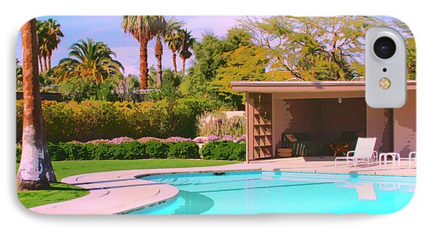 Sinatra Pool Cabana Palm Springs IPhone Case by William Dey