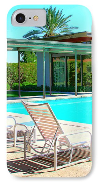 Sinatra Pool Palm Springs Phone Case by William Dey