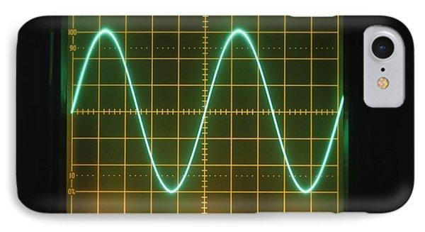 Sine Wave Display On Oscilloscope Screen IPhone Case by Dorling Kindersley/uig