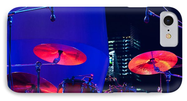 Singapore Drum Set 01 IPhone Case by Rick Piper Photography