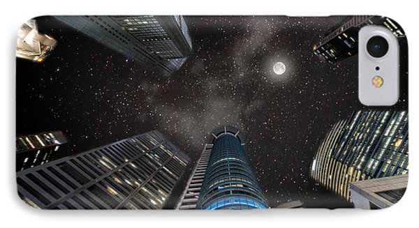 Singapore Moon Sky IPhone Case