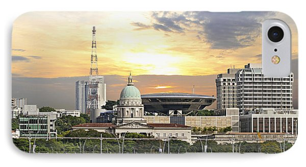 Singapore Parliament Building And Supreme Law Court  Phone Case by David Gn