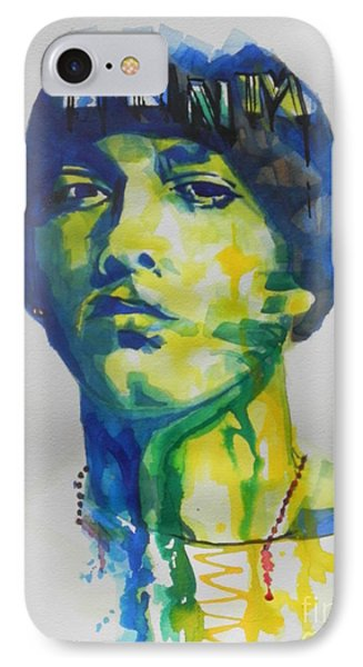Rapper  Eminem IPhone Case by Chrisann Ellis