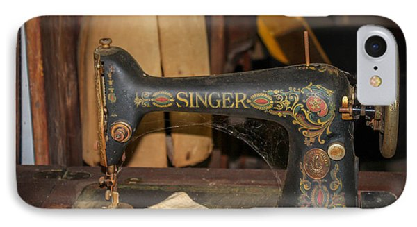 IPhone Case featuring the photograph Singer Sewing Machine  by Trace Kittrell