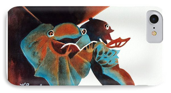 Singing Frog Duet 2 IPhone Case by Kathy Braud
