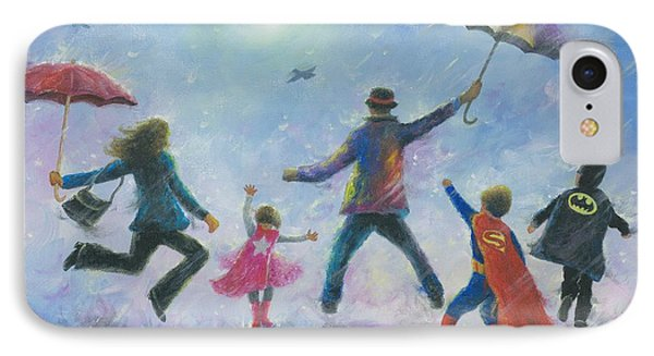 Singing In The Rain Super Hero Kids IPhone Case by Vickie Wade