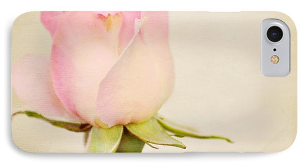 Single Baby Pink Rose Phone Case by Lyn Randle